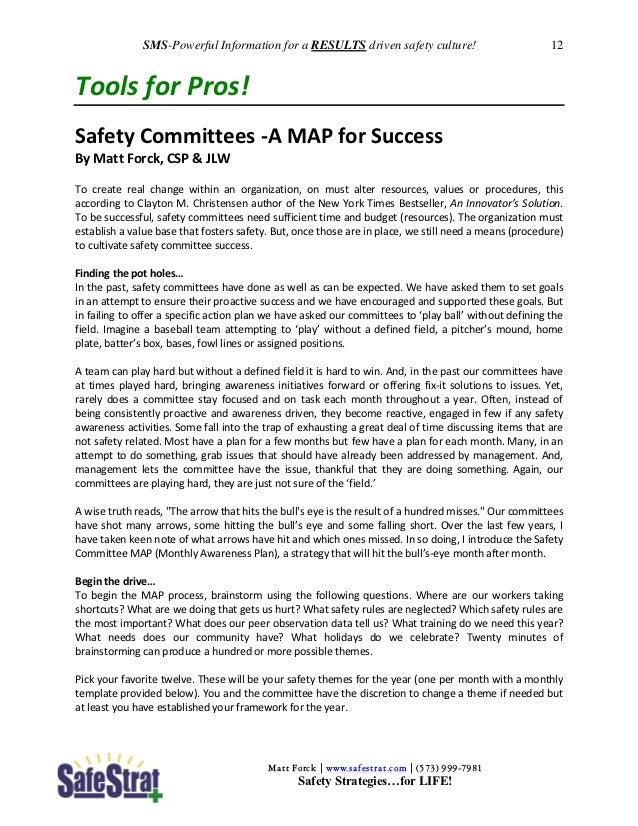 Safety Meeting Starter (SMS) Jan 2013