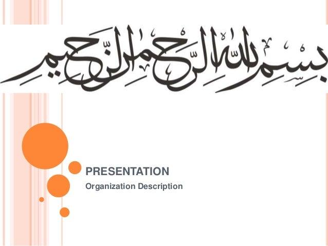 PRESENTATION Organization Description