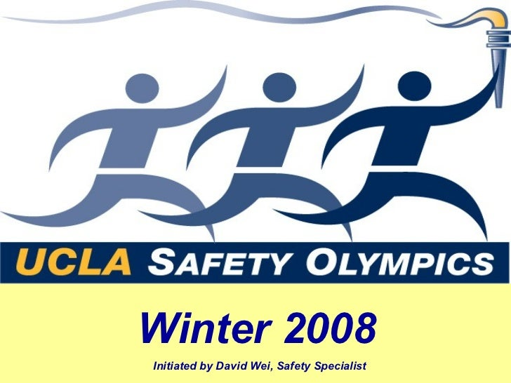 Winter 2008Initiated by David Wei, Safety Specialist