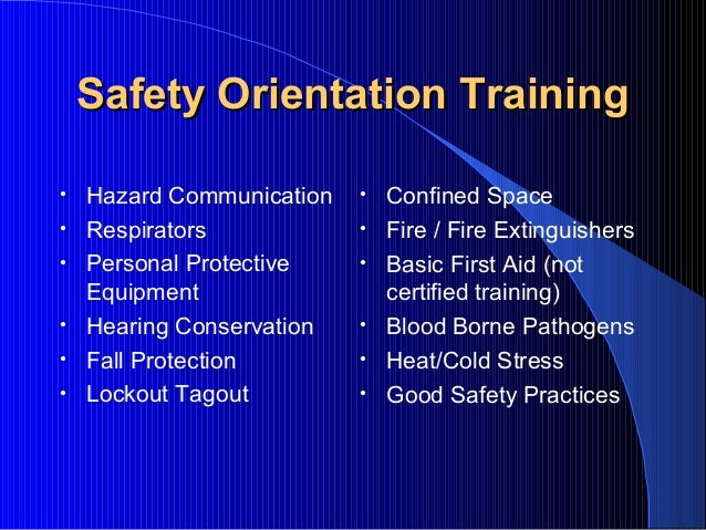 Safety Orientation Training by FHM