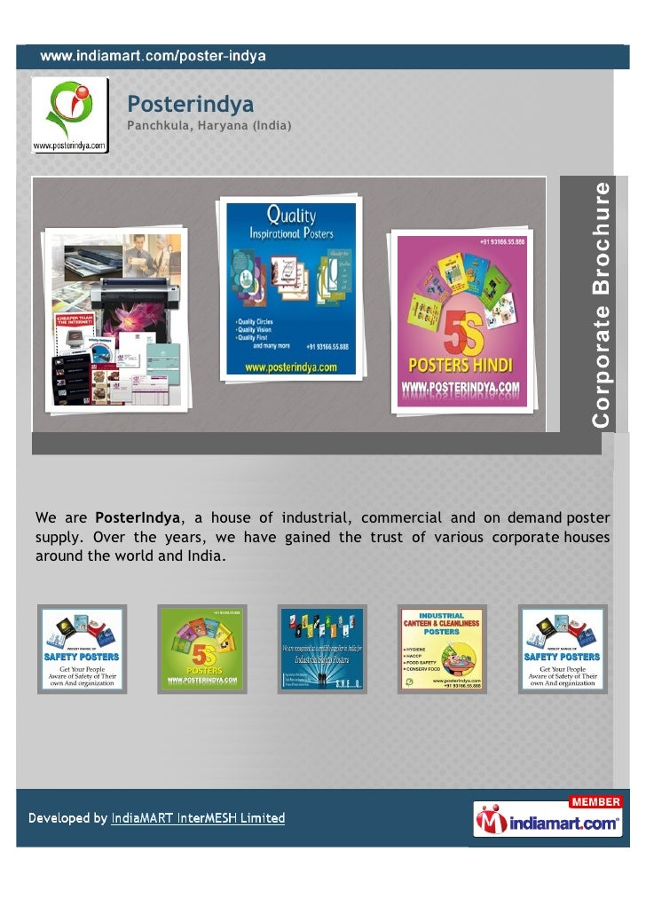 Posterindya            Panchkula, Haryana (India)We are PosterIndya, a house of industrial, commercial and on demand poste...