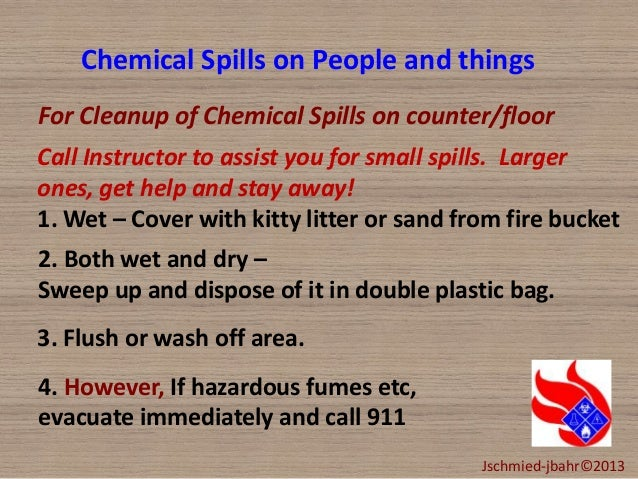 chemical spill kit instructions