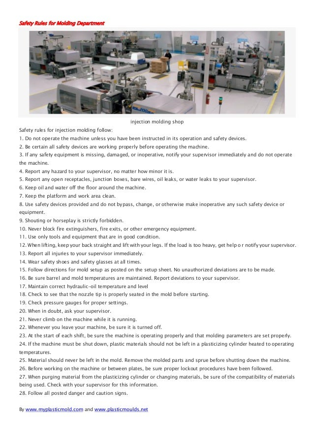 Injection Molding Process Audit Checklist