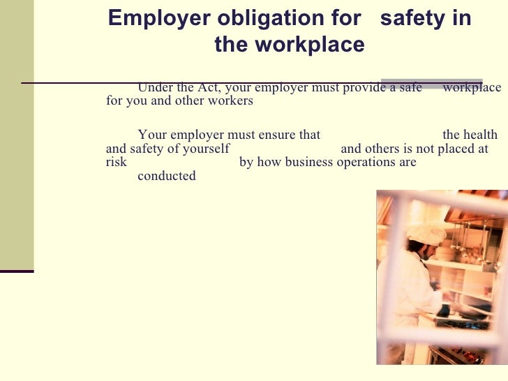 the advantages of occupational safety and health act in security of workplaces The occupational safety and health act of 1970 created the occupational safety and health administration to help there are also indirect benefits such as.