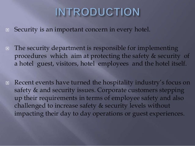 Safety & security in hotels