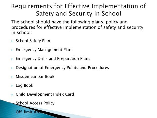 increasing the security and protection in schools Environmental changes included modifying the school schedule and increasing assigning police officers to schools provide security or protection.