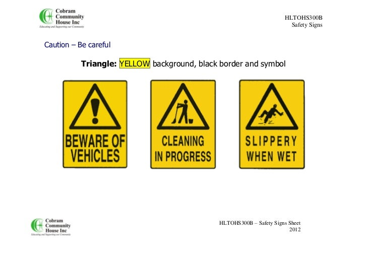 safety signs overview