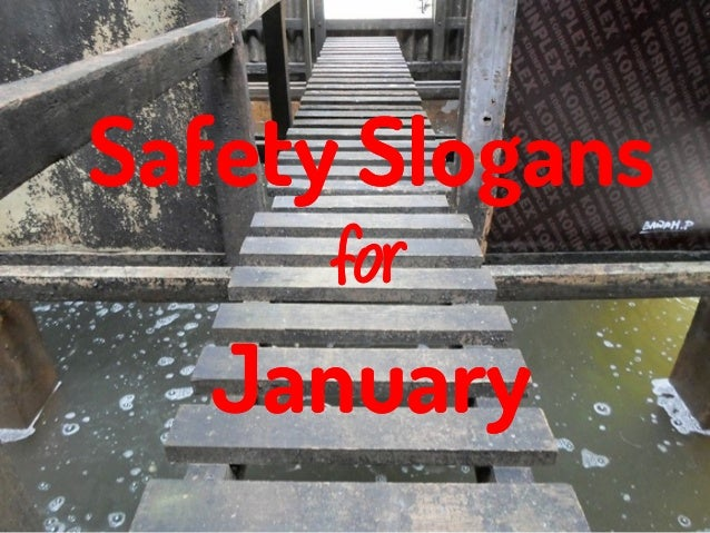Safety Slogans for January
