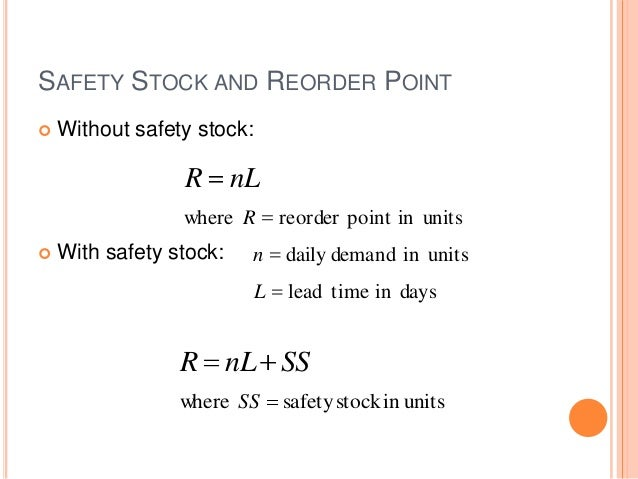 Safety stocks final
