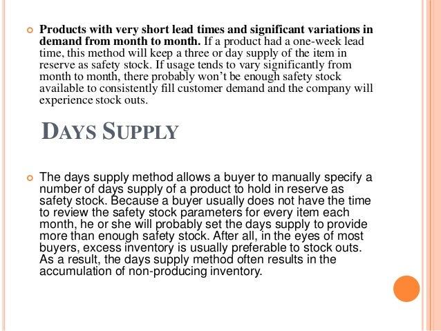 Safety stocks final