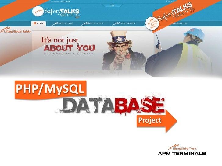 PHP/MySQL            Project