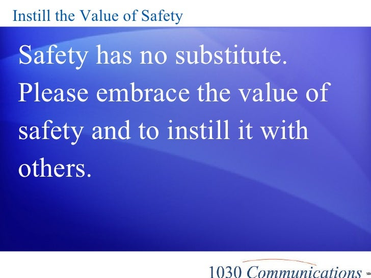 Safety Thoughts