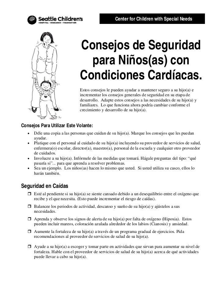 Center for Children with Special Needs                                 Consejos de Seguridad                              ...