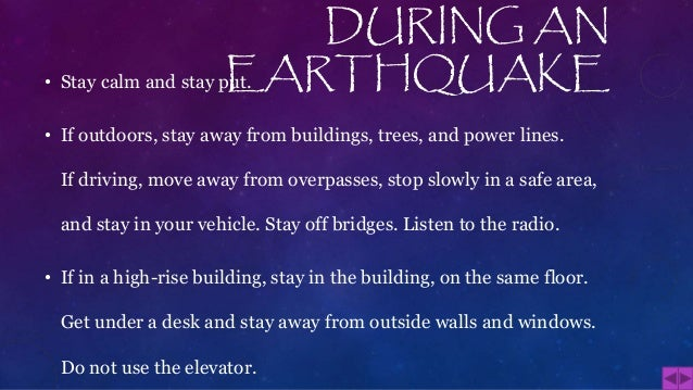 Safety tips for earthquake for Where do you go in an earthquake