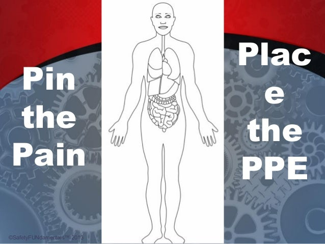 Pin the Pain Plac e the PPE ©SafetyFUNdamentals™ 2013