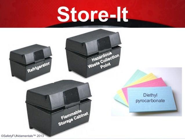 Store-It Diethyl pyrocarbonate ©SafetyFUNdamentals™ 2013