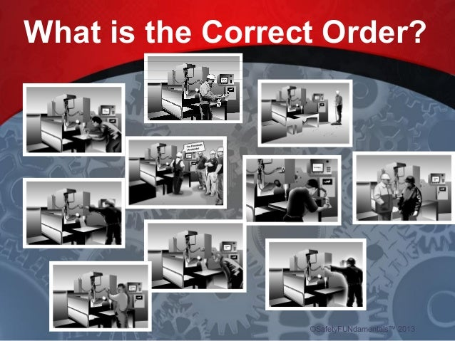 What is the Correct Order? ©SafetyFUNdamentals™ 2013