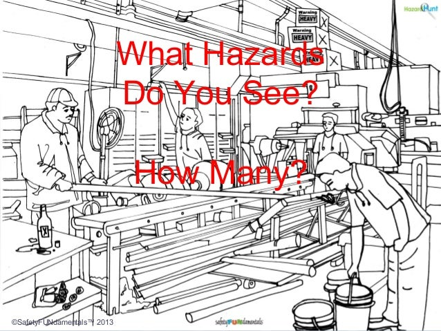 What Hazards Do You See? How Many? ©SafetyFUNdamentals™ 2013