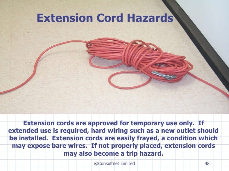 Frayed Extension Cord : Safe use of power tools
