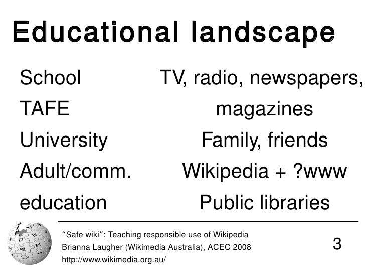 Safe wiki: Teaching responsible use of Wikipedia