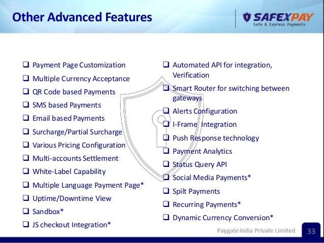 Safex pay avantgarde -presentation