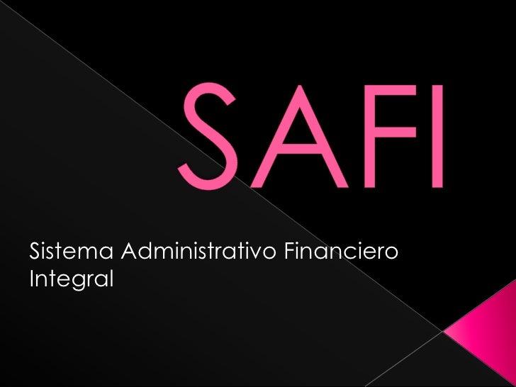 Sistema Administrativo Financiero Integral
