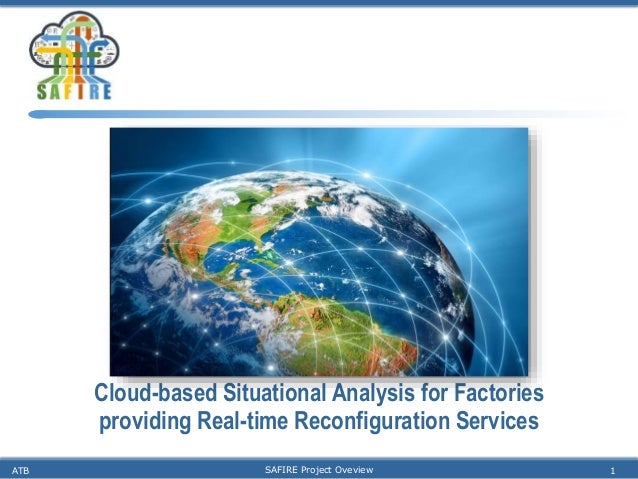 Cloud-based Situational Analysis for Factories providing Real-time Reconfiguration Services ATB SAFIRE Project Oveview 1