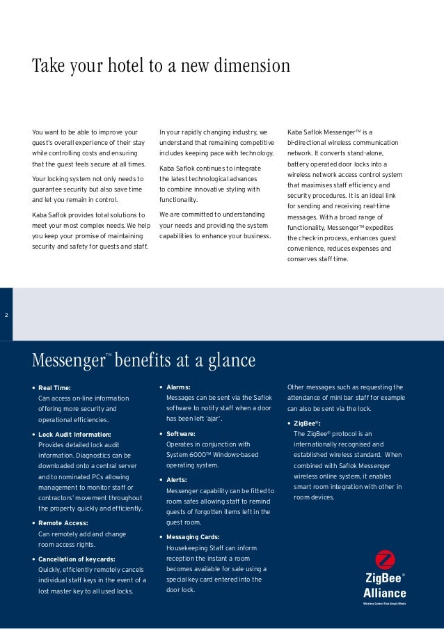 Saflok messenger-brochure