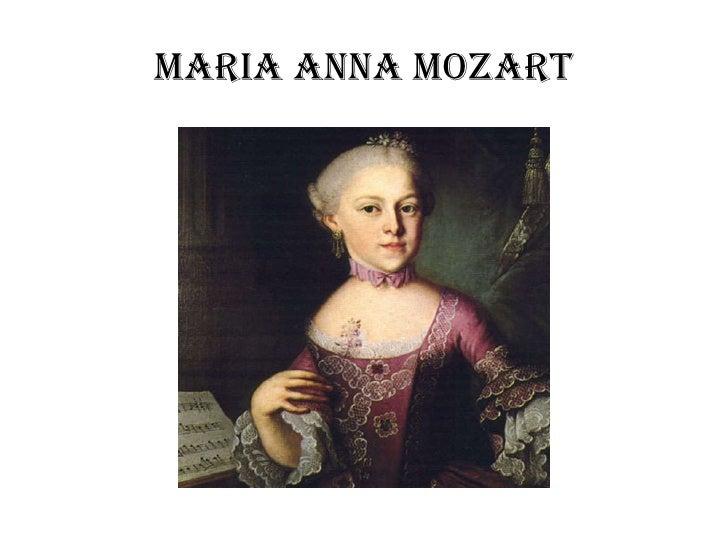 Maria Anna Mozart
