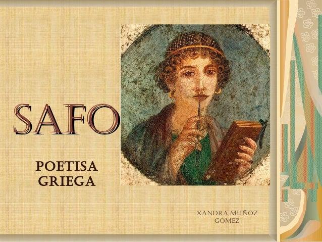 SafoSafo PoetiSa griega Xandra Muñoz góMez