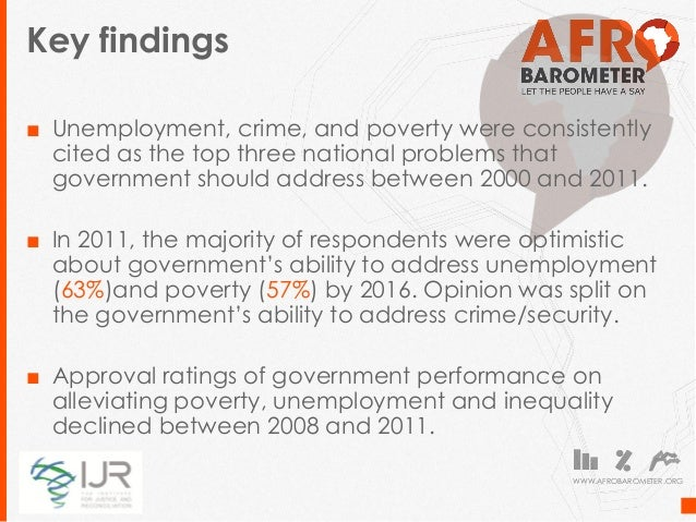 Unemployment and Poverty