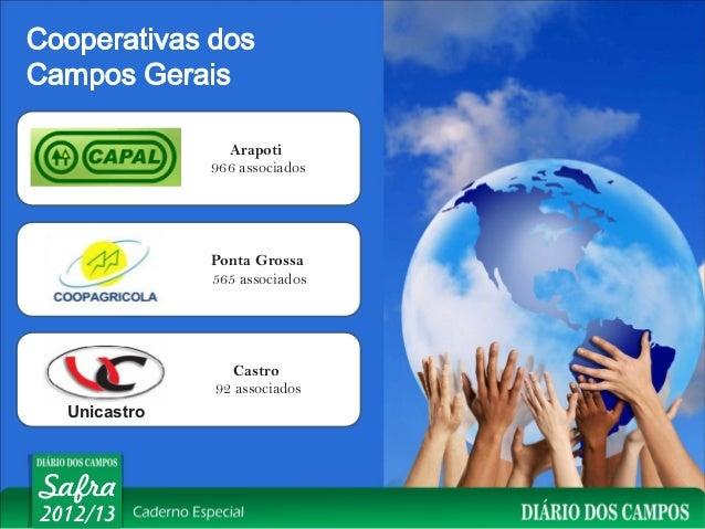 Arapoti              966 associados              Ponta Grossa              565 associados                 Castro          ...