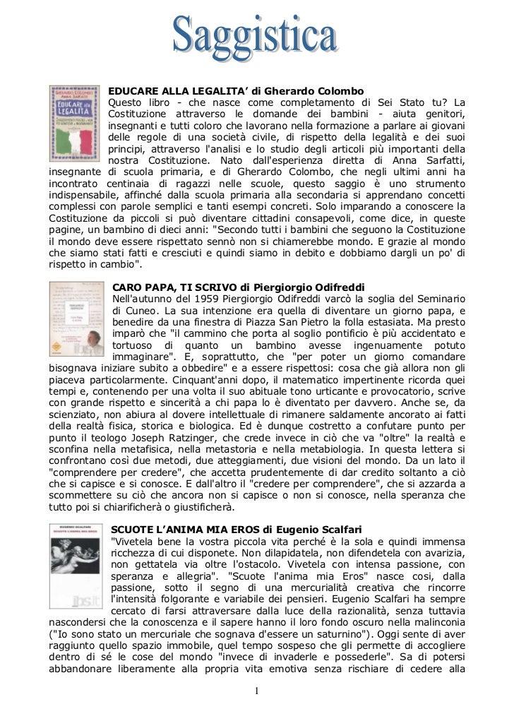 EDUCARE ALLA LEGALITA' di Gherardo Colombo             Questo libro - che nasce come completamento di Sei Stato tu? La    ...