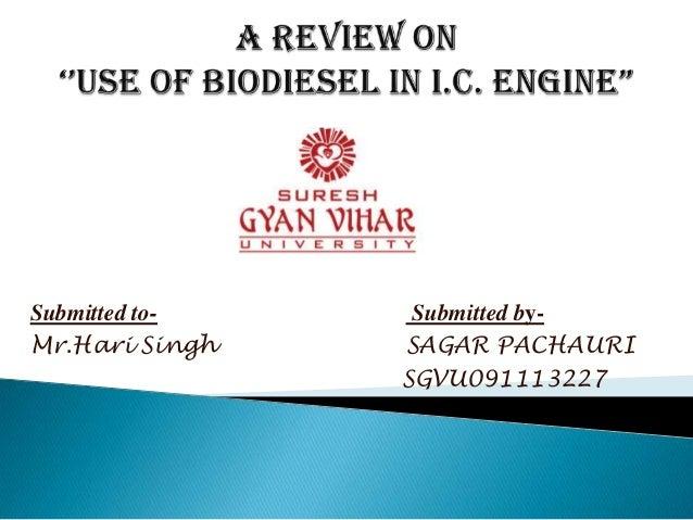 Submitted toMr.Hari Singh  Submitted bySAGAR PACHAURI SGVU091113227