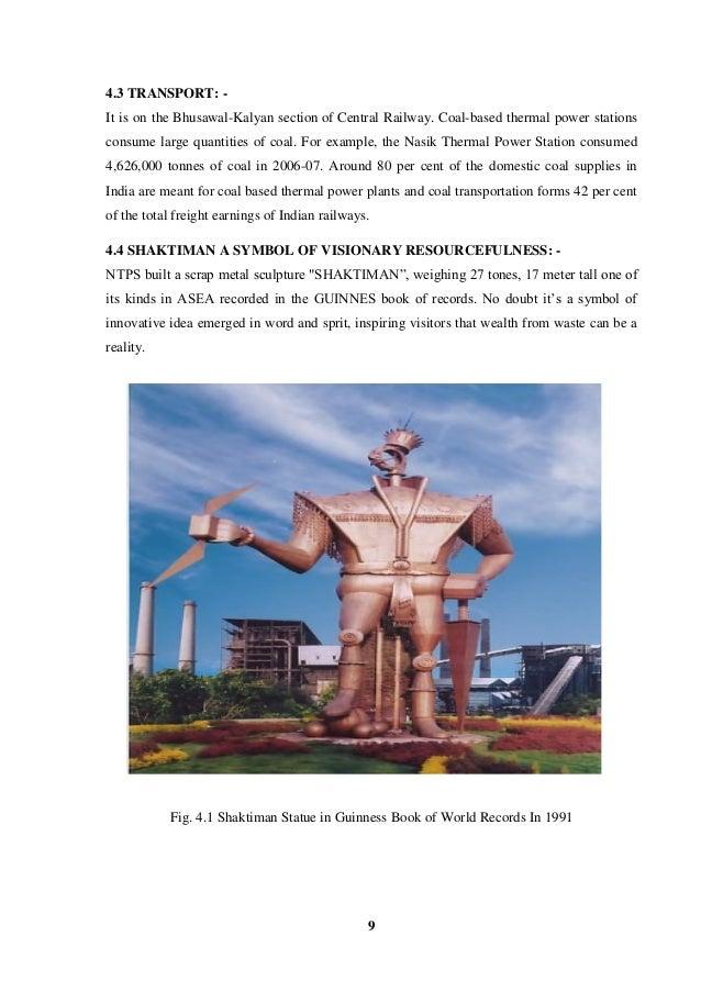 Training Reporton Thermal Power Plantt Nashik Tps Pdf