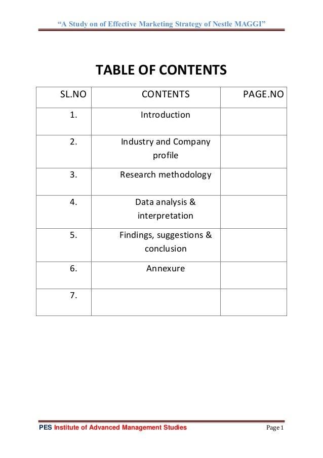 Marketing strategies of nestle india