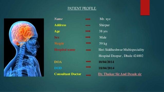 case presentation on Head Injury Slide 3