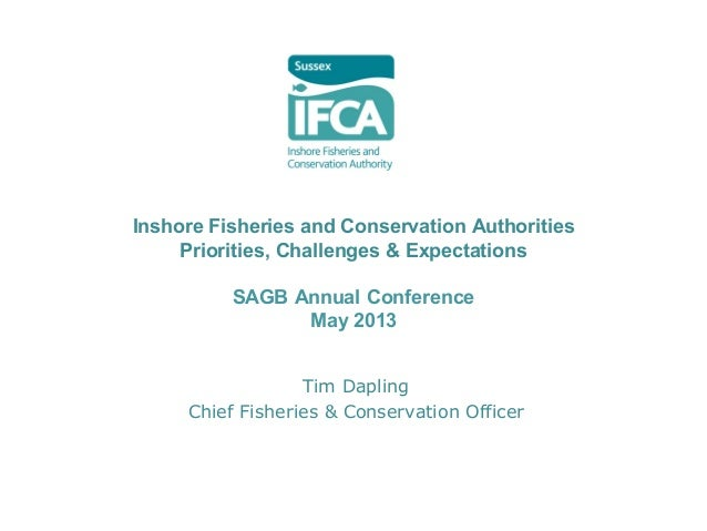 Inshore Fisheries and Conservation Authorities Priorities, Challenges & Expectations SAGB Annual Conference May 2013 Tim D...