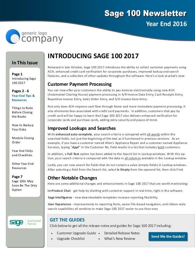 INTRODUCINGSAGE1002017 ReleasedinlateOctober,Sage1002017introducestheabilitytocollectcustomerpaymentsusi...