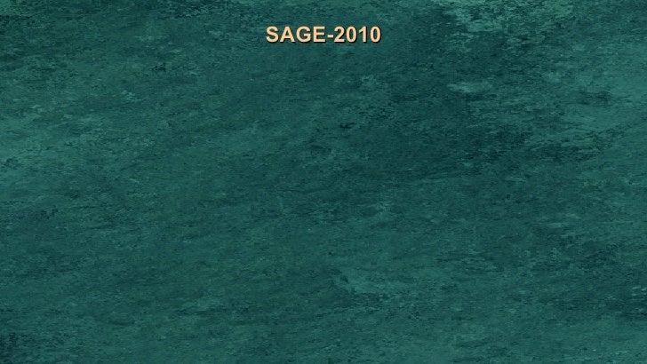 SAGE-2010
