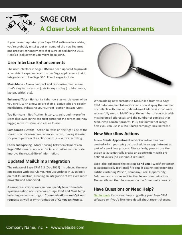 Sage 300 Newsletter Sample - Year End 2016