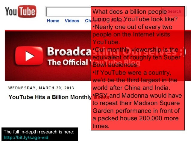 What does a billion people                                      tuning into YouTube look like?                            ...
