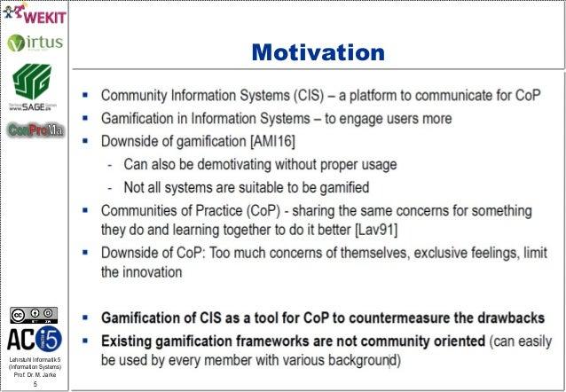 Lehrstuhl Informatik 5 (Information Systems) Prof. Dr. M. Jarke 5 Motivation