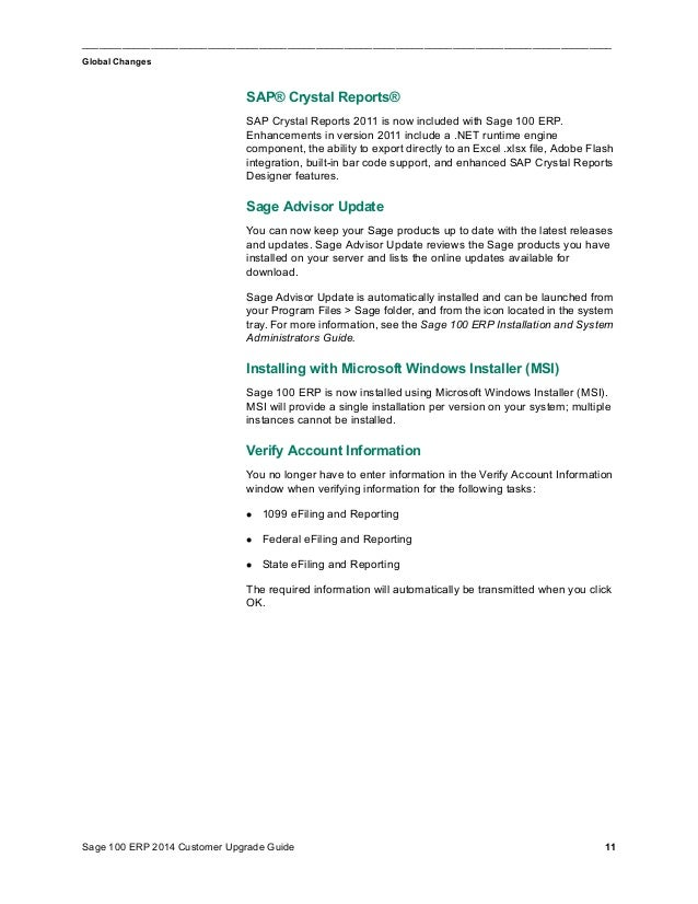 Sage 100 ERP 2014 Upgrade Guide