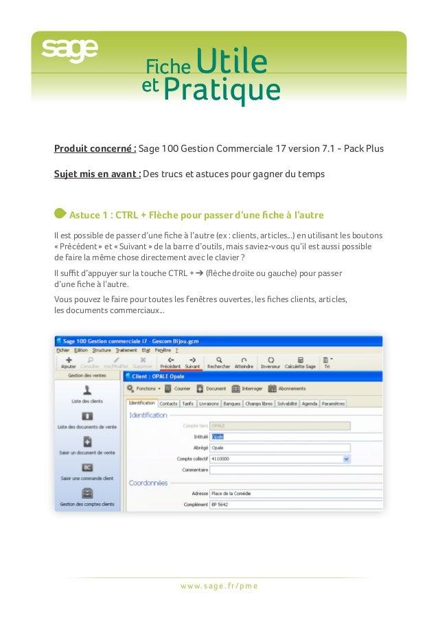 Fiche                          et Pratique                                          UtileProduit concerné : Sage 100 Gesti...