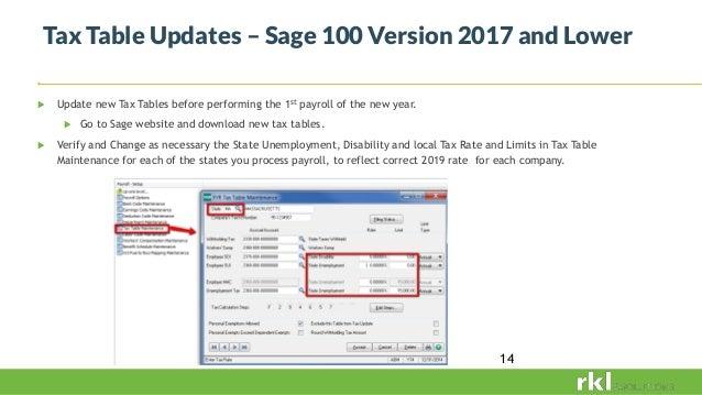 Sage 100 payroll year end webinar 2018
