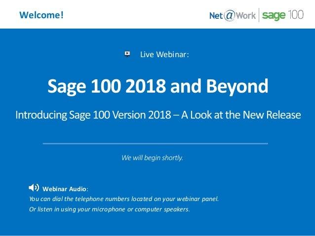 Sage 100 2018 and Beyond