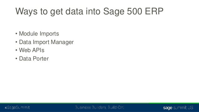 sage 500 erp data import tools from a to z rh slideshare net