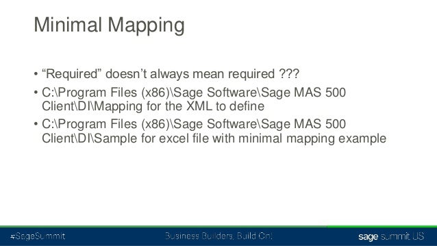 Sage 500 erp data import tools from a to z