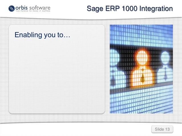 sage erp 1000 integration rh slideshare net Sage Pro ERP sage erp 1000 user manual